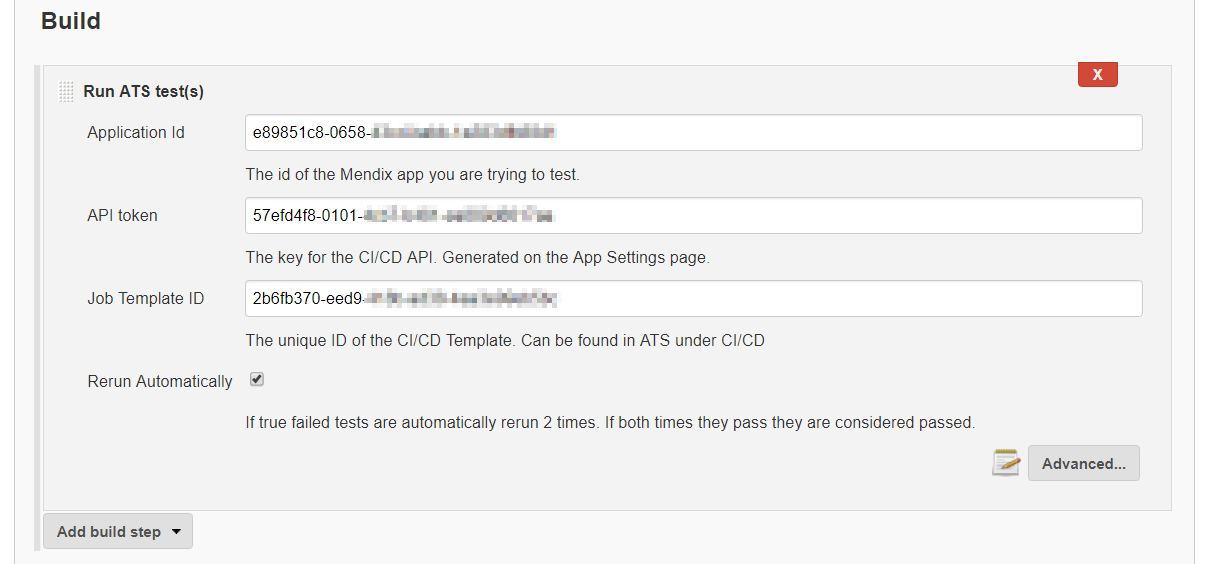 ATS tests can be run with a single build step without the need to explicitly trigger HTTP requests or parse XML.